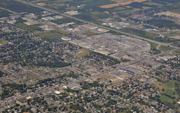 ベルビルの航空写真