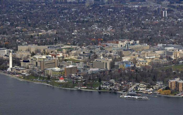 キングストンの航空写真
