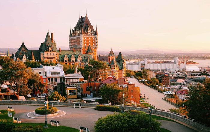 ケベックシティの美しい風景