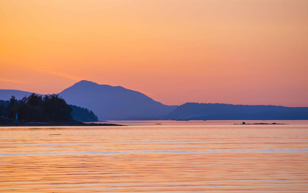 ソルトスプリング島の夕日