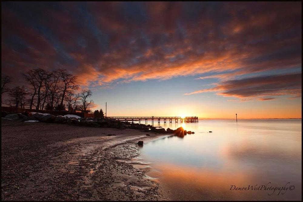 サレーの湖の夕日