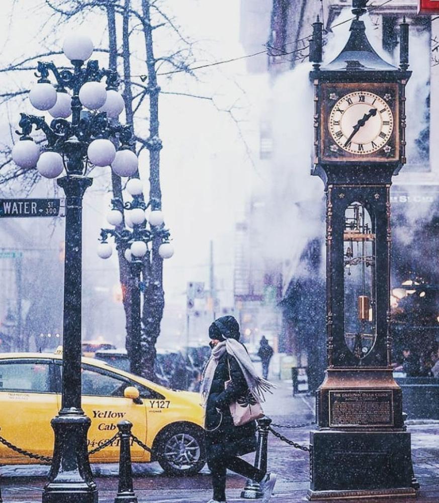 ベルビルの冬の街並み