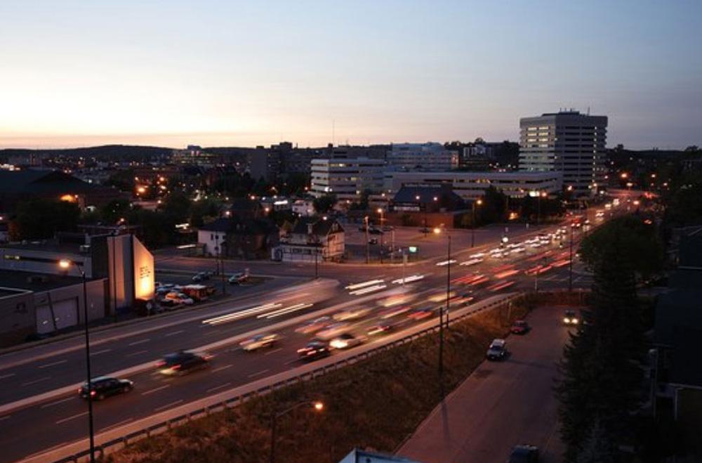 サドバリーの夕方の街並み