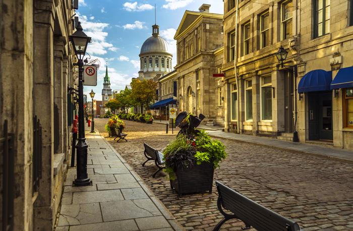 モントリオールの旧市街の街並み