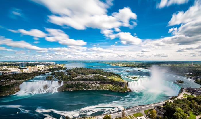 ナイアガラの滝、カナダ滝とアメリカ滝