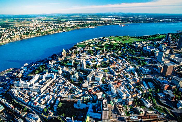 ケベックシティの航空写真
