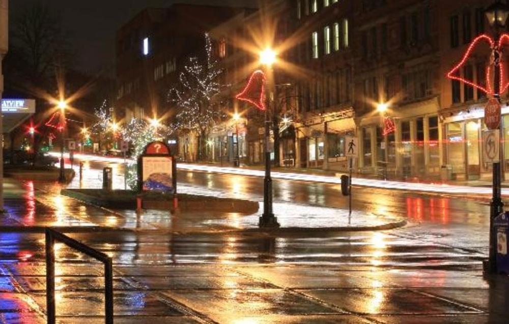 セントジョンの夜の街