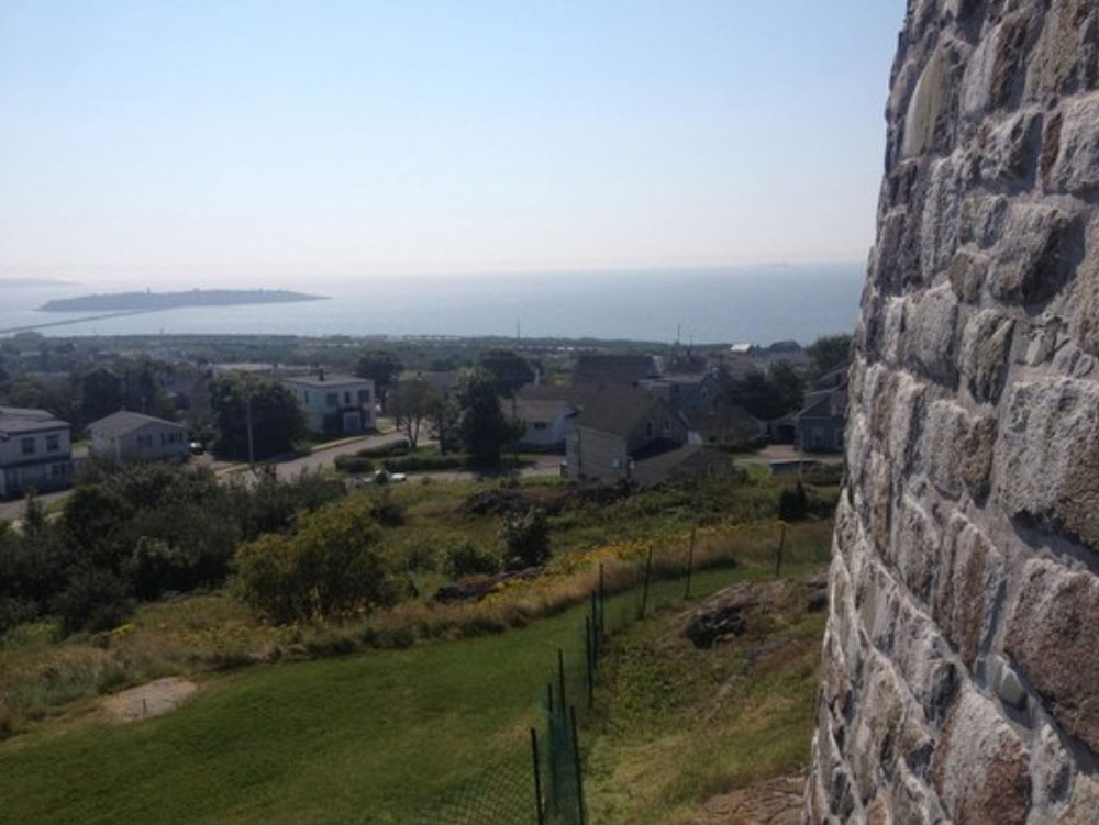 セントジョンの城超しに見る町
