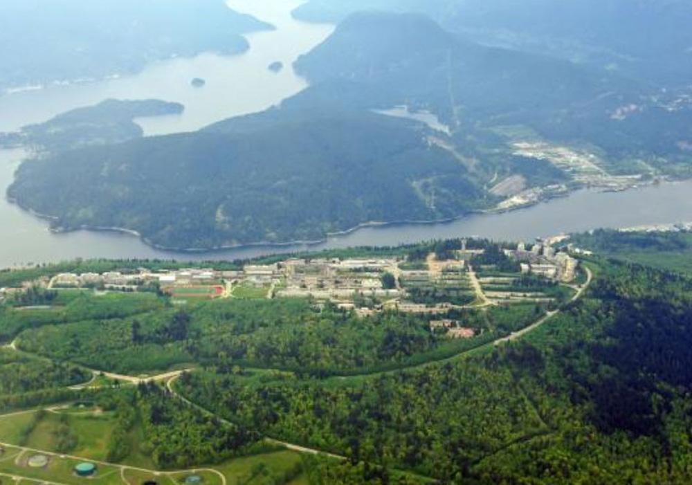 バーナビーの航空写真