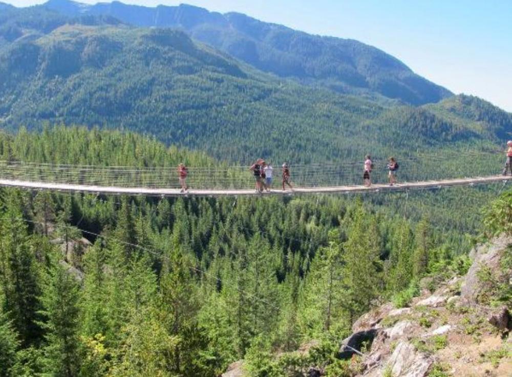 スコーミッシュの吊り橋