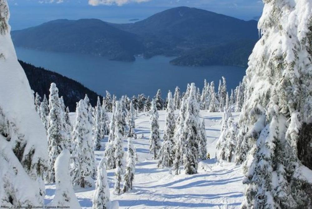 ウェストバンクーバーの冬の山