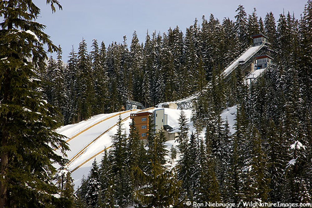 オリンピックのスキージャンプ台 ウィスラー
