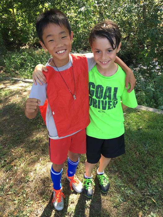 ピュアカナダ代表の息子のサッカーキャンプで出会った仲間(ケローナ)
