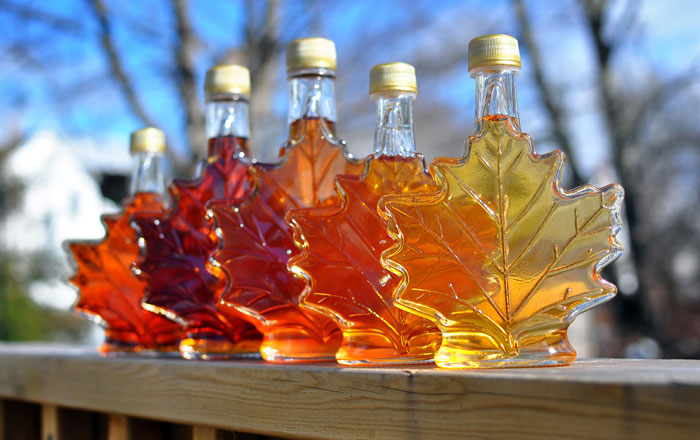 カナダ留学のお土産 メープルシロップのボトル