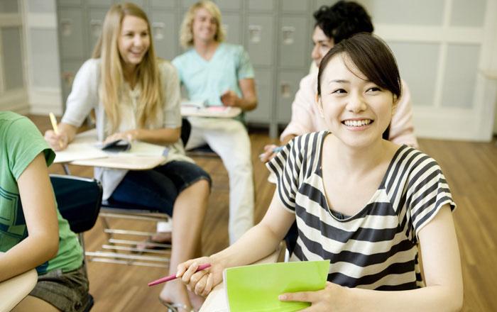 カナダの留学生の典型的な一日 授業中