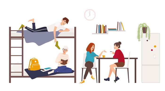 カナダ留学の滞在方法 寮のイメージ