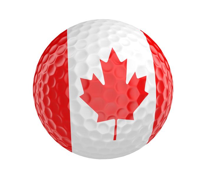 様々なアクティビティ カナダフラッグのゴルフボール
