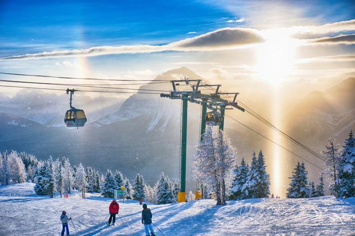 カナダ スキースノーボード留学 美しいカナダのスキー場