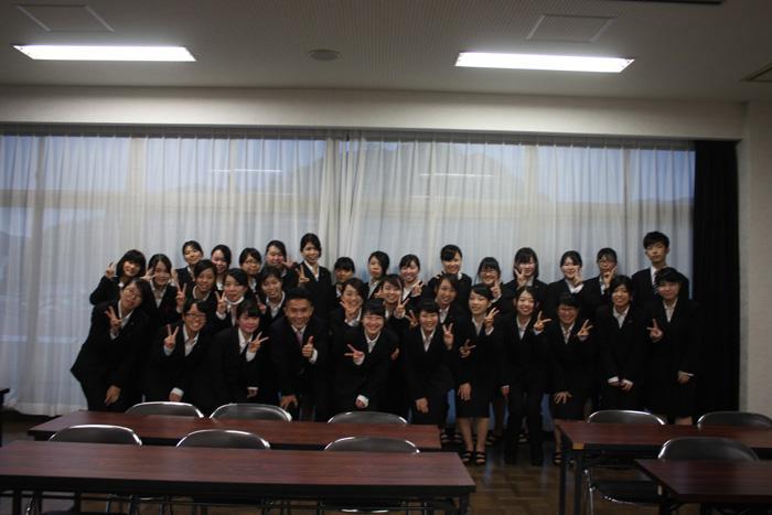 日星高校看護科様での授業後の集合写真