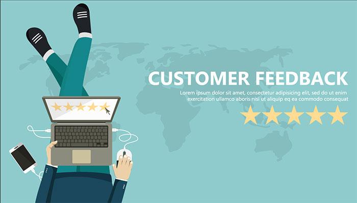 満足度が高い 顧客からのフィードバック