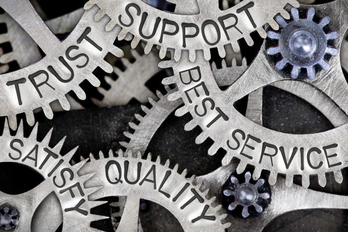 満足度が高い サポート、信頼、満足、ベストサービス、高い質