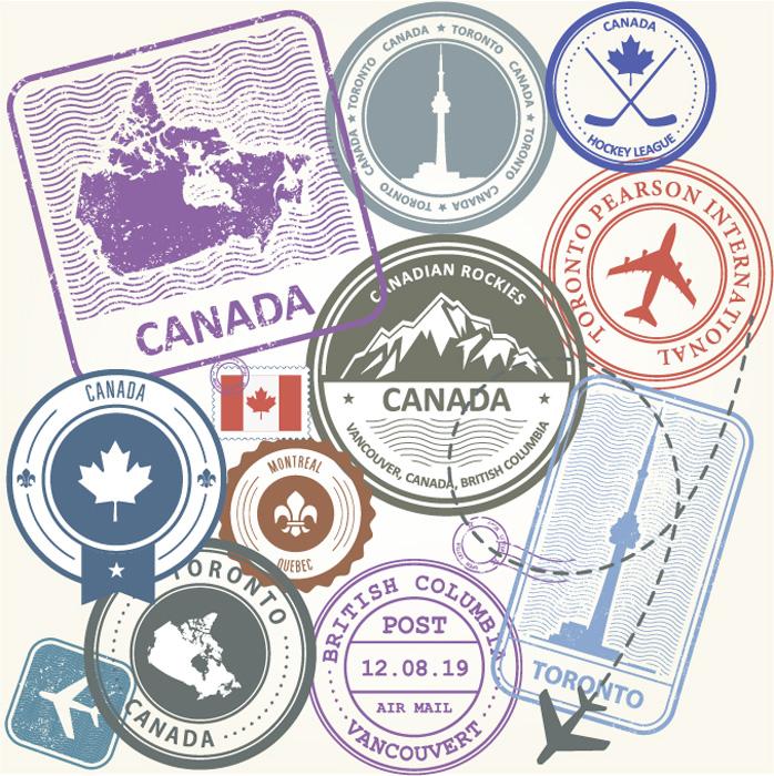 カナダの文化と習慣 入国スタンプ