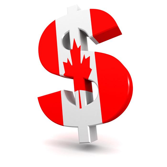 カナダドル 通貨 カナダドルマーク with カナダフラッグ