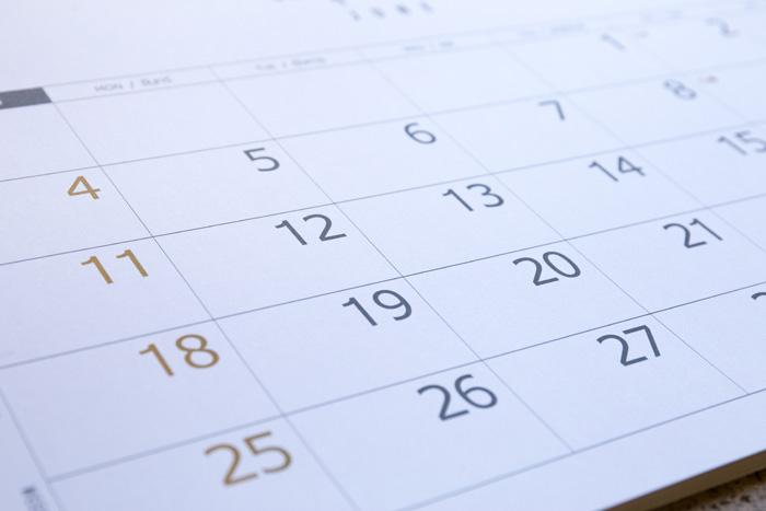 留学期間を考える カレンダー
