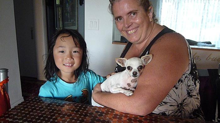 ピュアカナダの小谷の長男のホームステイファミリーとの写真