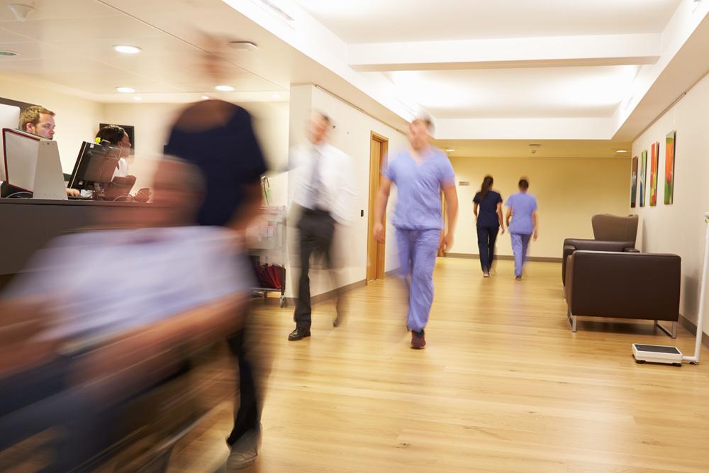 カナダの忙しい病院の様子