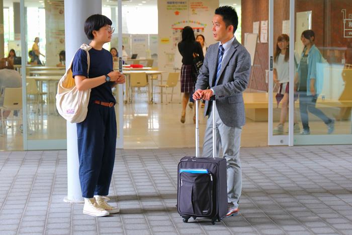語学留学 短期 バンクーバー 大学でピュアカナダの小谷と遭遇 Mahoさん