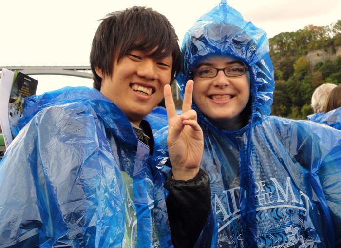 大学付属語学コース ゲルフ Daikiさん ナイアガラの滝を訪問