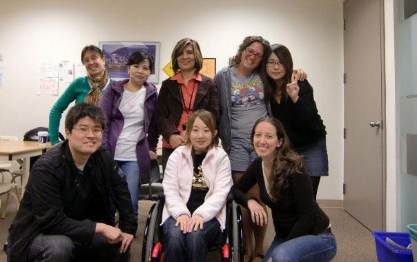 短期語学留学 バンクーバー クラスの皆と Mayumiさん