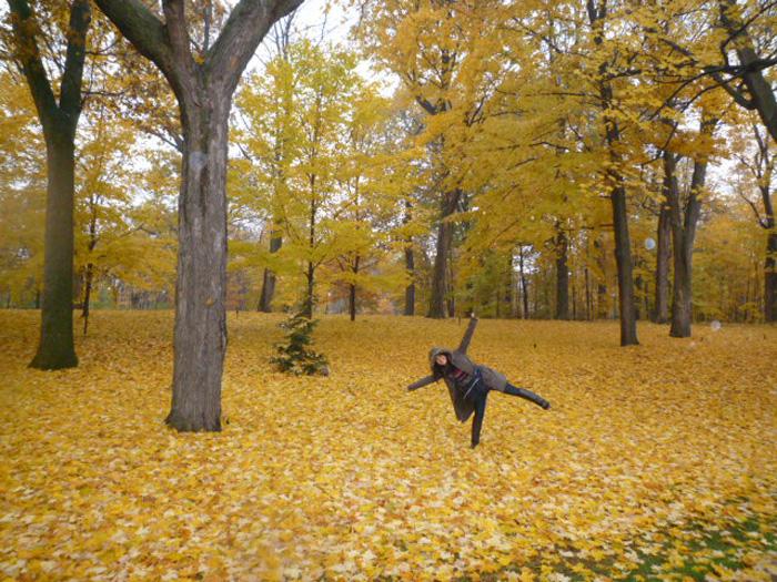 大学付属語学留学 オンタリオ州 Megumi ピーターボロの森の中