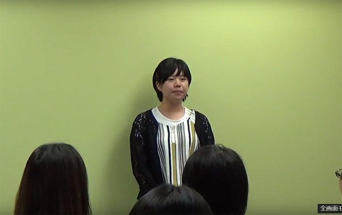 看護師留学 バンクーバー 皆の前でスピーチ Miyuさん