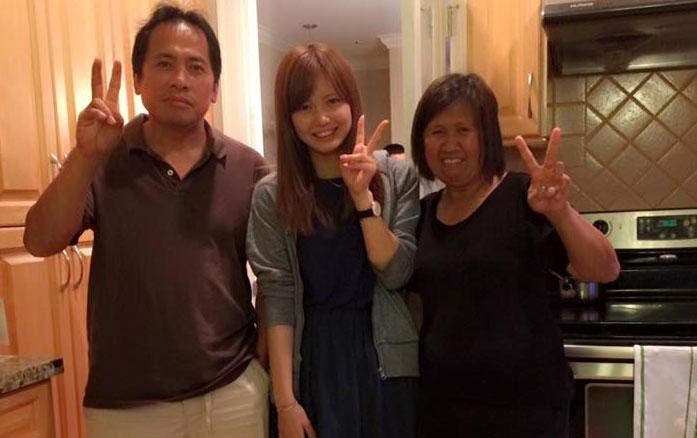 夏休み語学研修 バンクーバー ホストファミリーと Hitomiさん