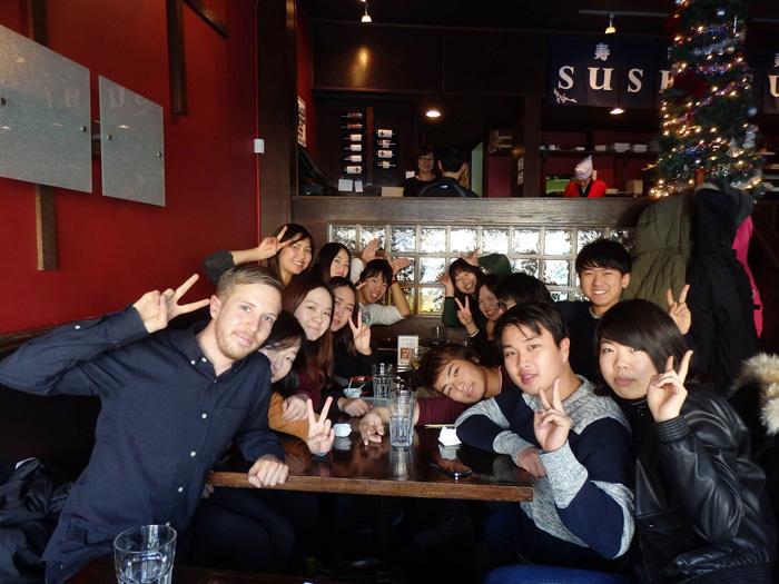 大学付属語学留学 ウィニペグ Fumikaさん 大学の仲間とパーティー