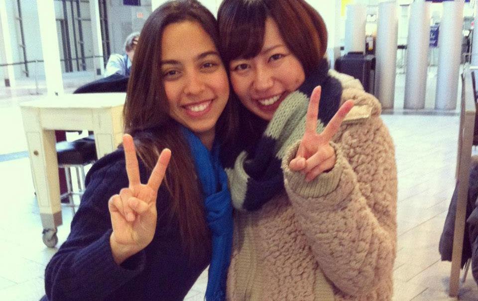 長期語学留学 モントリオール 楽しいツーショット Minamiさん