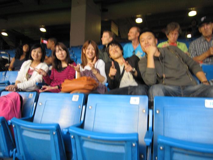 語学留学 トロント Kenseiさん 仲間とメジャーリーグ(MLB)観戦