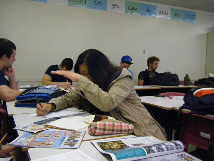 高校留学 ノバスコシア州 クラス内の授業風景 Mayuさん