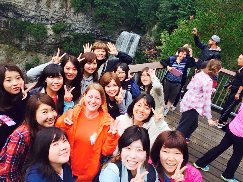 夏休み語学留学 バンクーバー クラスの皆と Ayakaさん