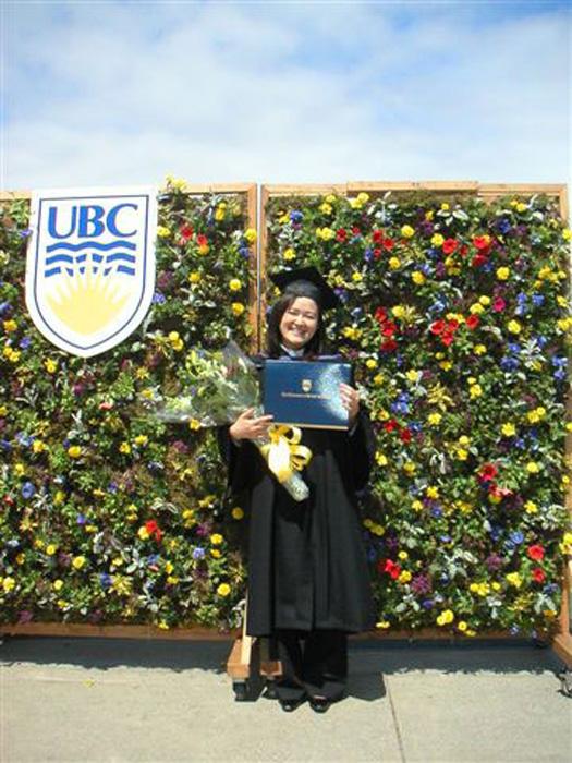 大学留学 バンクーバー 長期 UBCの卒業式にて Wakikoさん