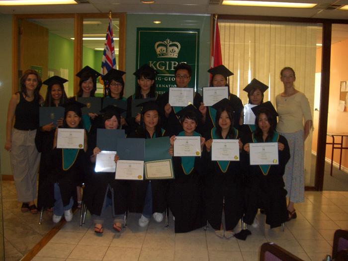 語学留学 専門留学 バンクーバー 専門プログラムの卒業式 Yumiさん