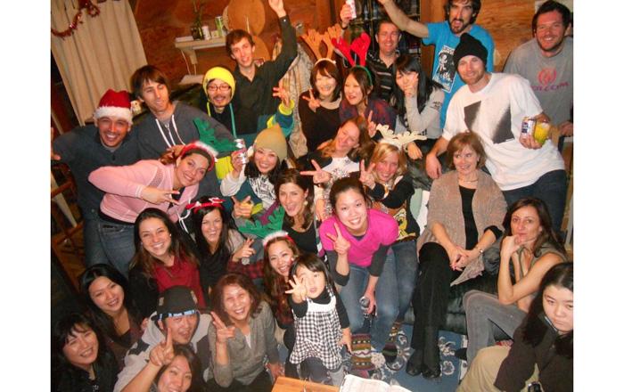 Advantage E/J English School、学校の仲間達とパーティー