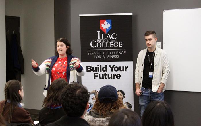 ILAC International Collegeでのプレゼン