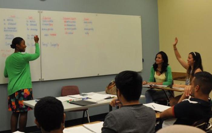 トンプソンリバーズ大学の授業風景
