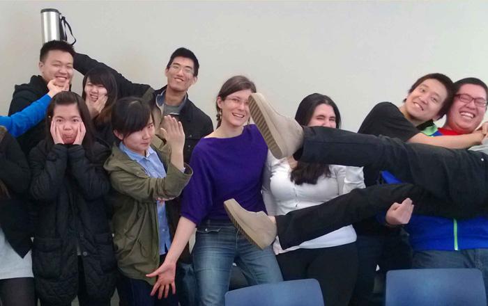 ゲルフ大学の楽しい雰囲気のクラス