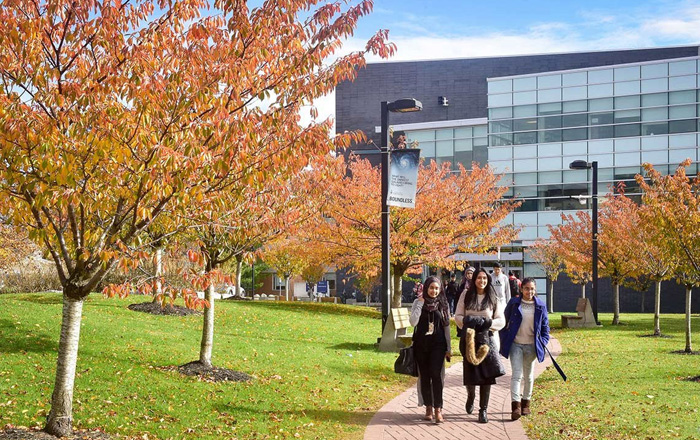 トロント大学のキャンパスを歩く