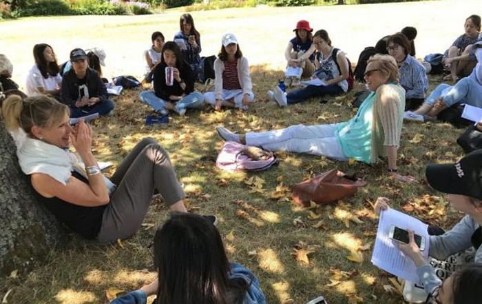 ブリティッシュコロンビア大学での休憩時間