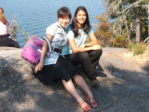 夏休み語が億留学 バンクーバー 学校で出会った友達と Aoiさん